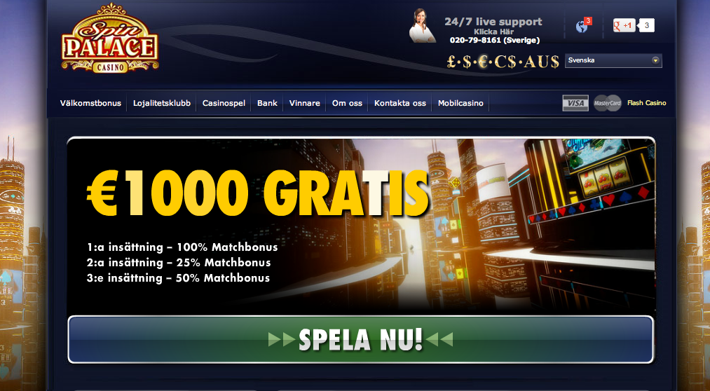 smartphone mobilcasino spin palace